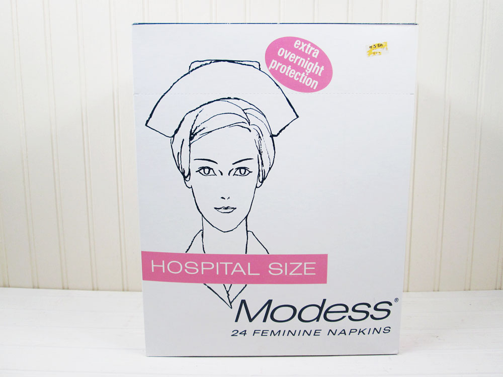 Vintage Modess Hospital Size Feminine Napkins Maxi Pads