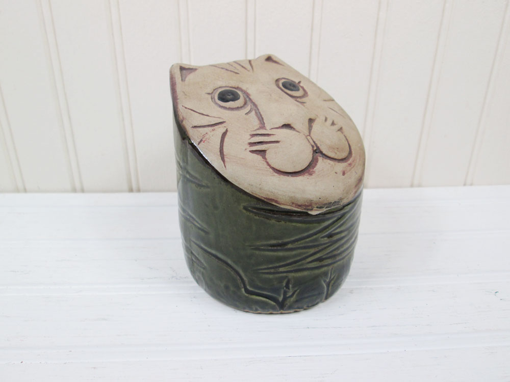 Vintage Paul Marshall Ceramic Cat Bank Made In Japan