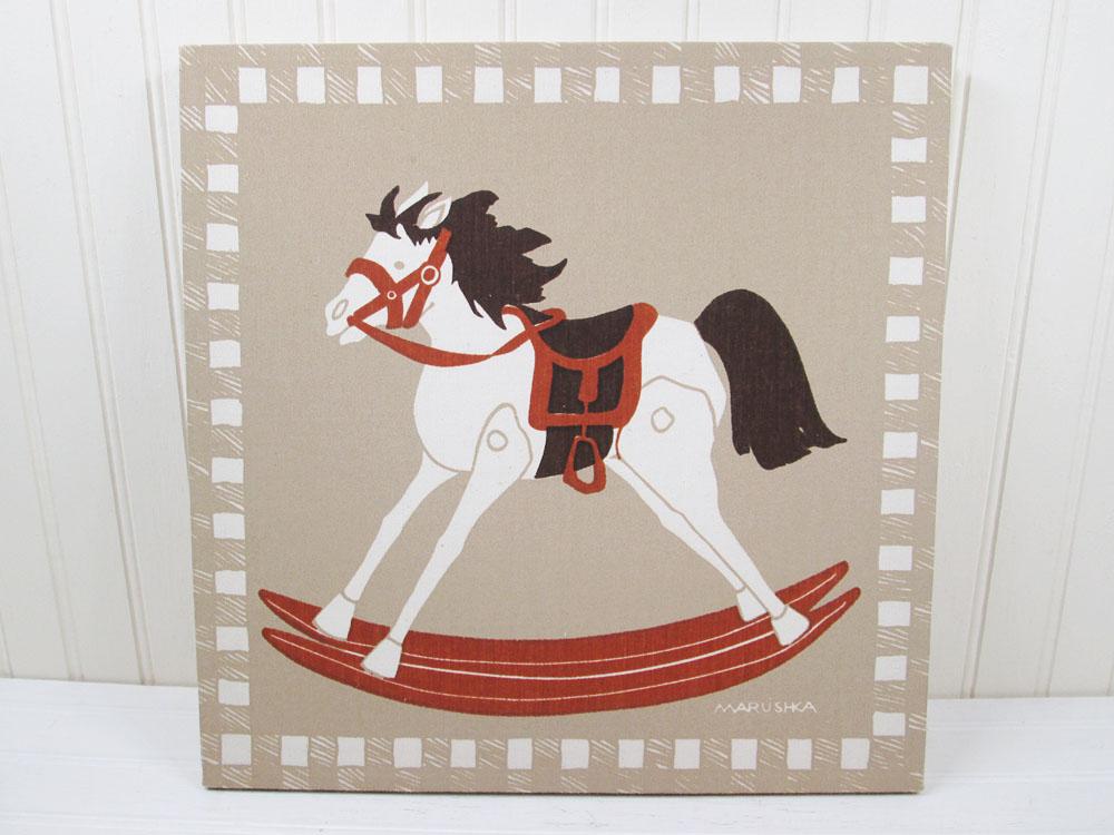 Vintage Marushka Rocking Horse Print