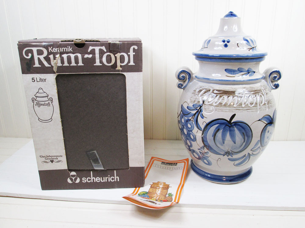Vintage Scheurich Rumtopf Pot Crock In Box