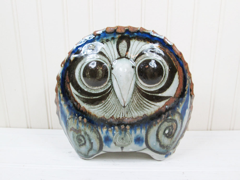 Vintage Mexican Pottery Owl Jorge Wilmot
