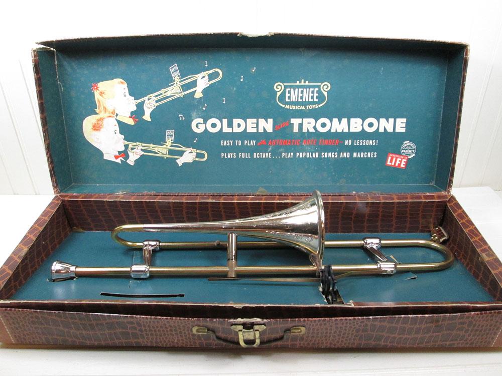 Vintage Emenee Toy Trombone