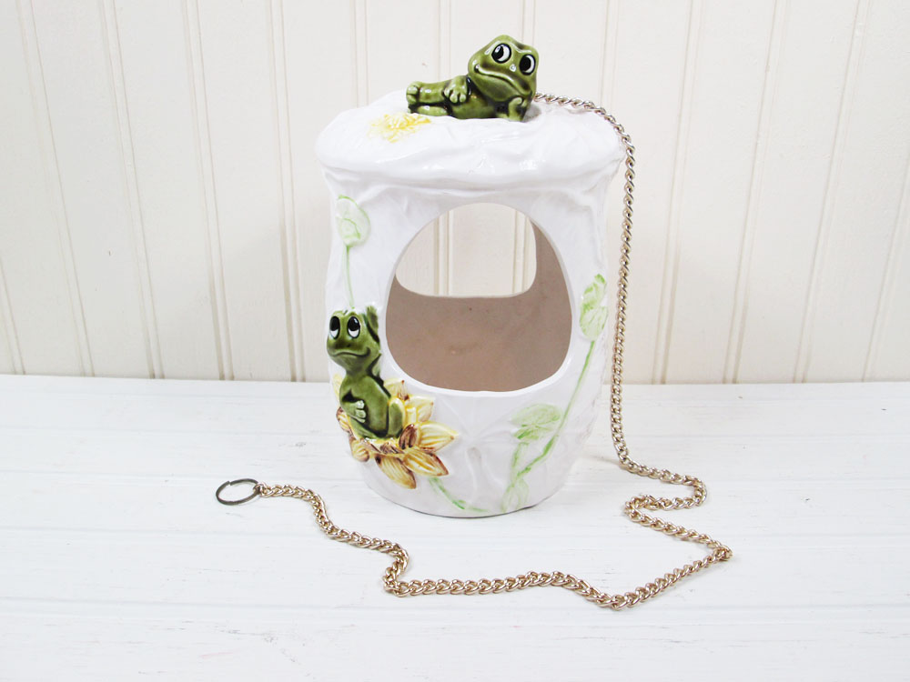 Vintage Sears Neil The Frog Hanging Planter