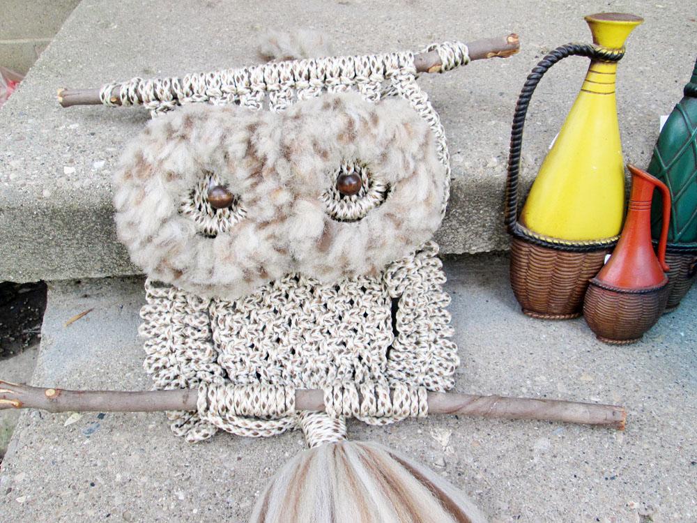 Vintage Owl Macrame Thrift Score