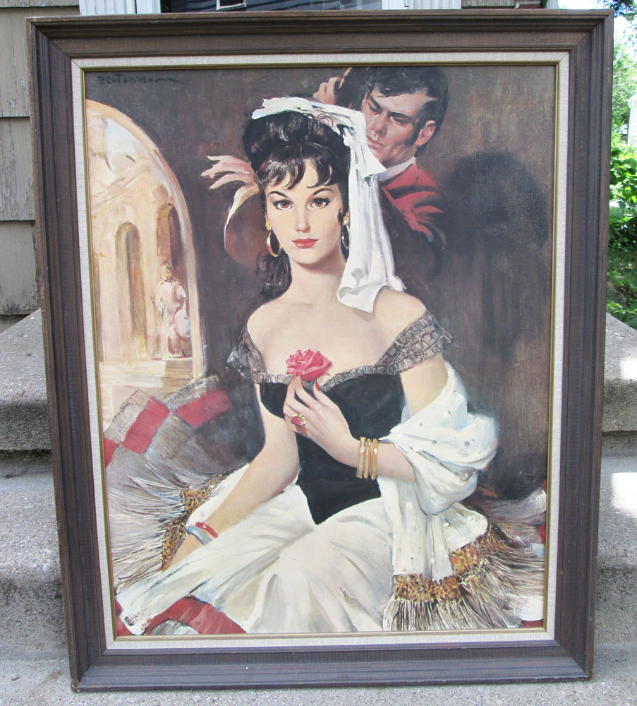 Vintage Spanish Woman Framed Print