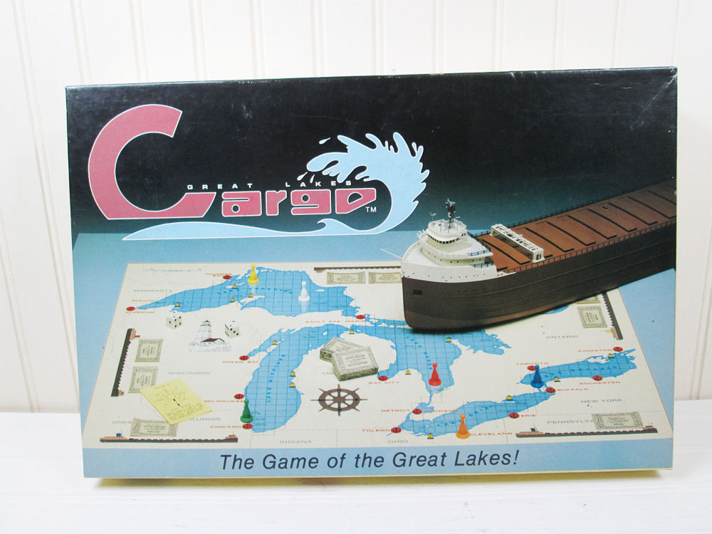 Vintage Great Lakes Cargo Board Game 1989 V & L Heise Games