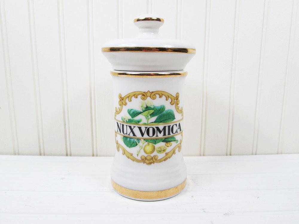 Vintage Nux Vomica Apothecary Jar