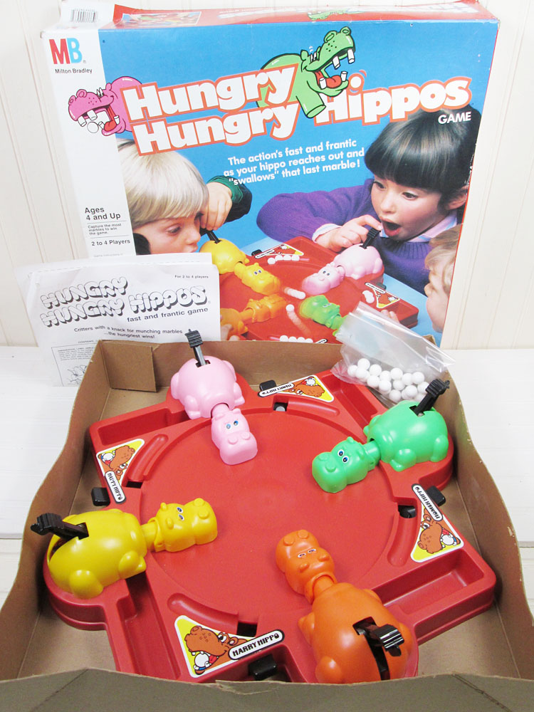 Vintage 1978 Hungry Hungry Hippos Game