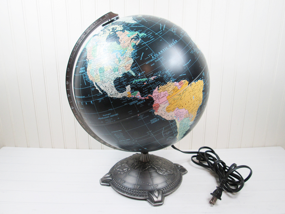 Replogle Globe Starlight Series Black Ocean Illuminated