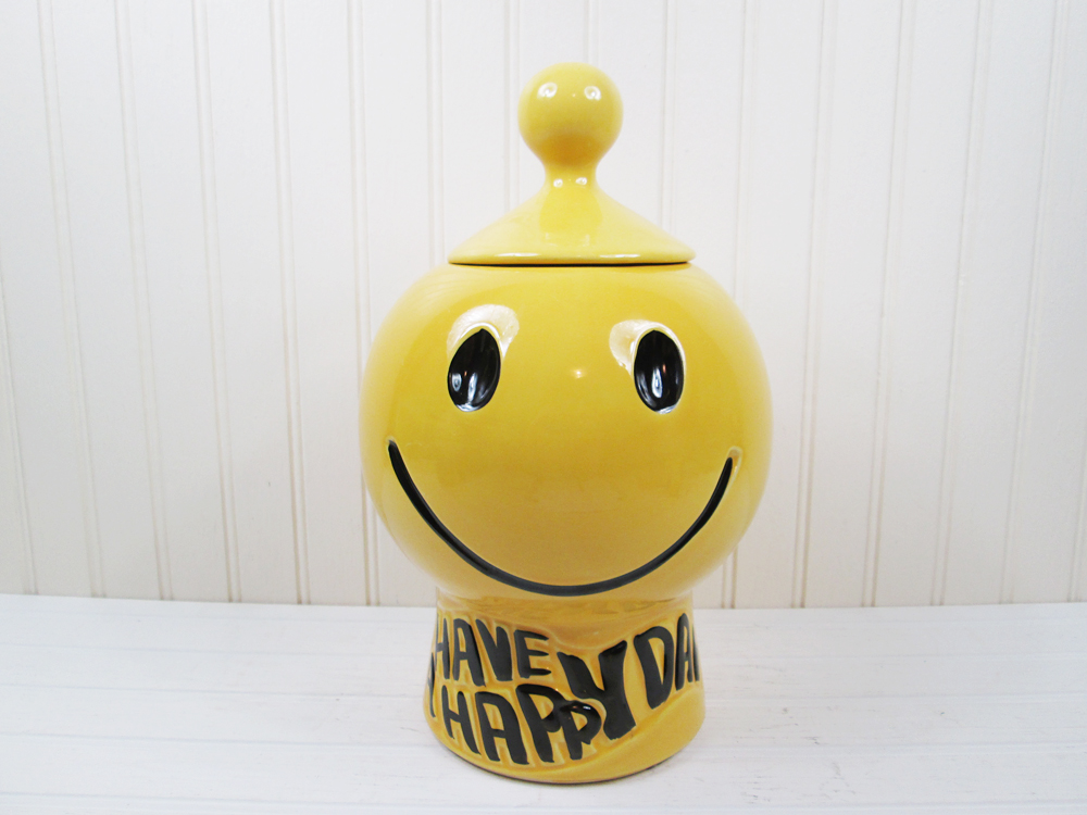 Vintage McCoy Pottery Have A Happy Day Cookie Jar