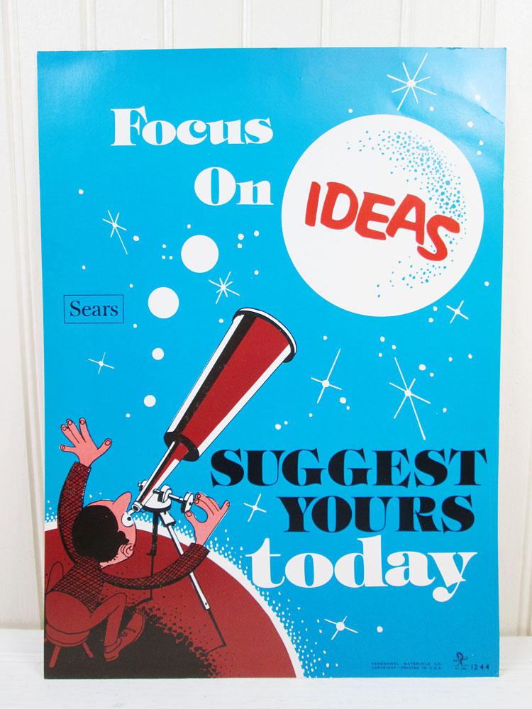 Vintage Work Motivational Poster