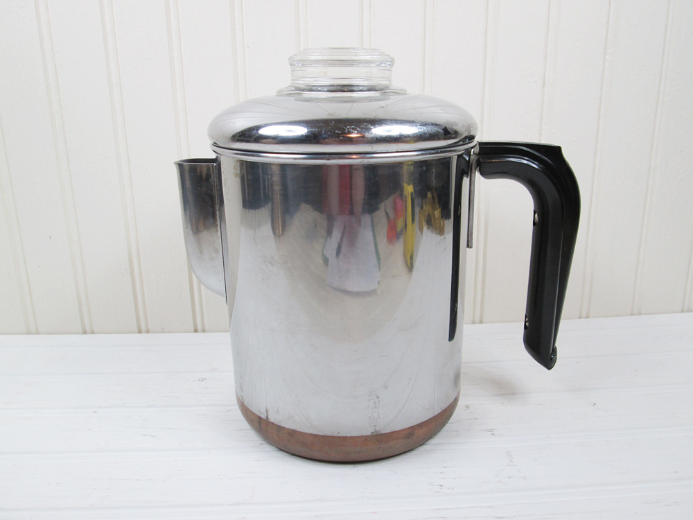 Vintage Revere Ware Pre-1968 Coffee Pot Percolator 4 Cup