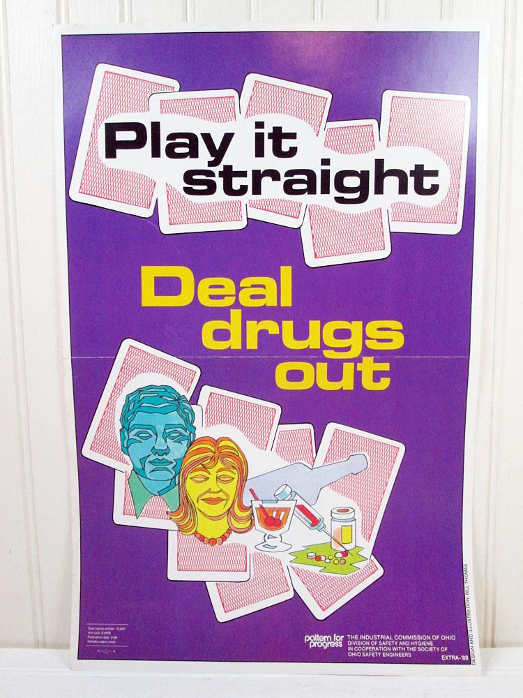 Vintage Anti-Drug Work Safety Poster