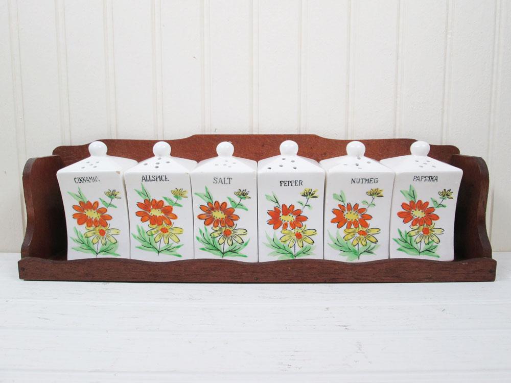 Vintage Ceramic Spice Jar Shaker Set