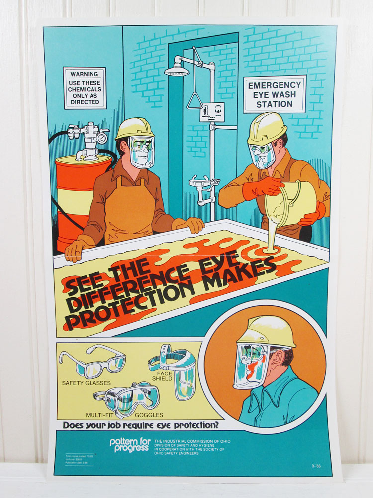 Vintage Work Workplace Safety Poster