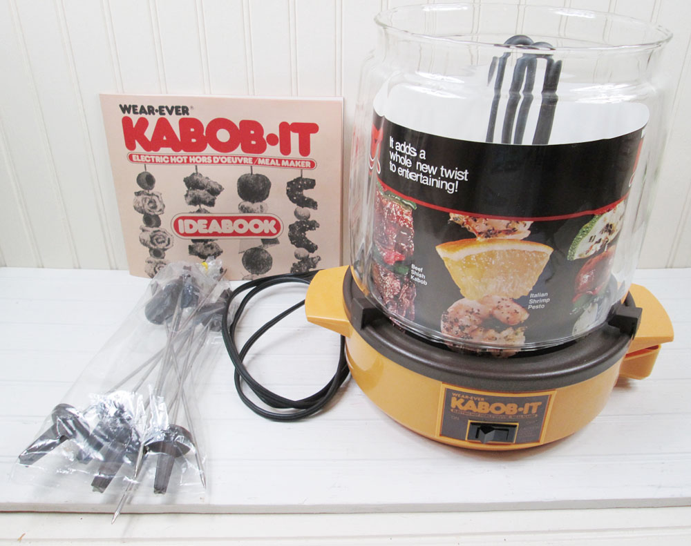 Vintage Kabob It Wear Ever 74000 Shish Kabob Rotisserie