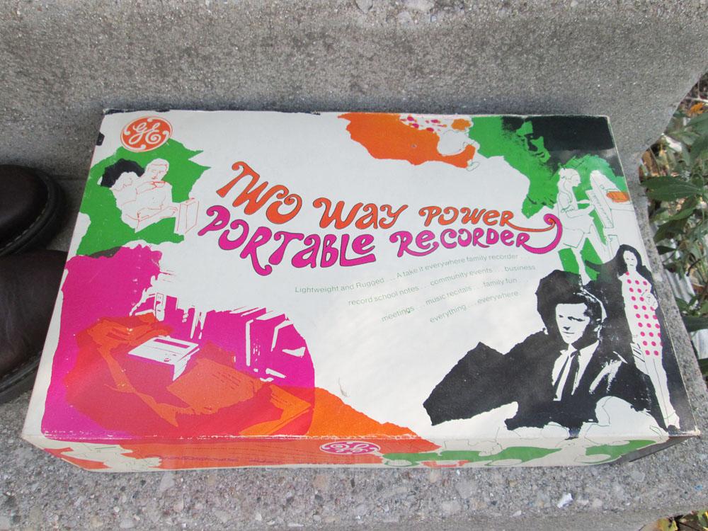 Vintage GE Reel To Reel Tape Recorder