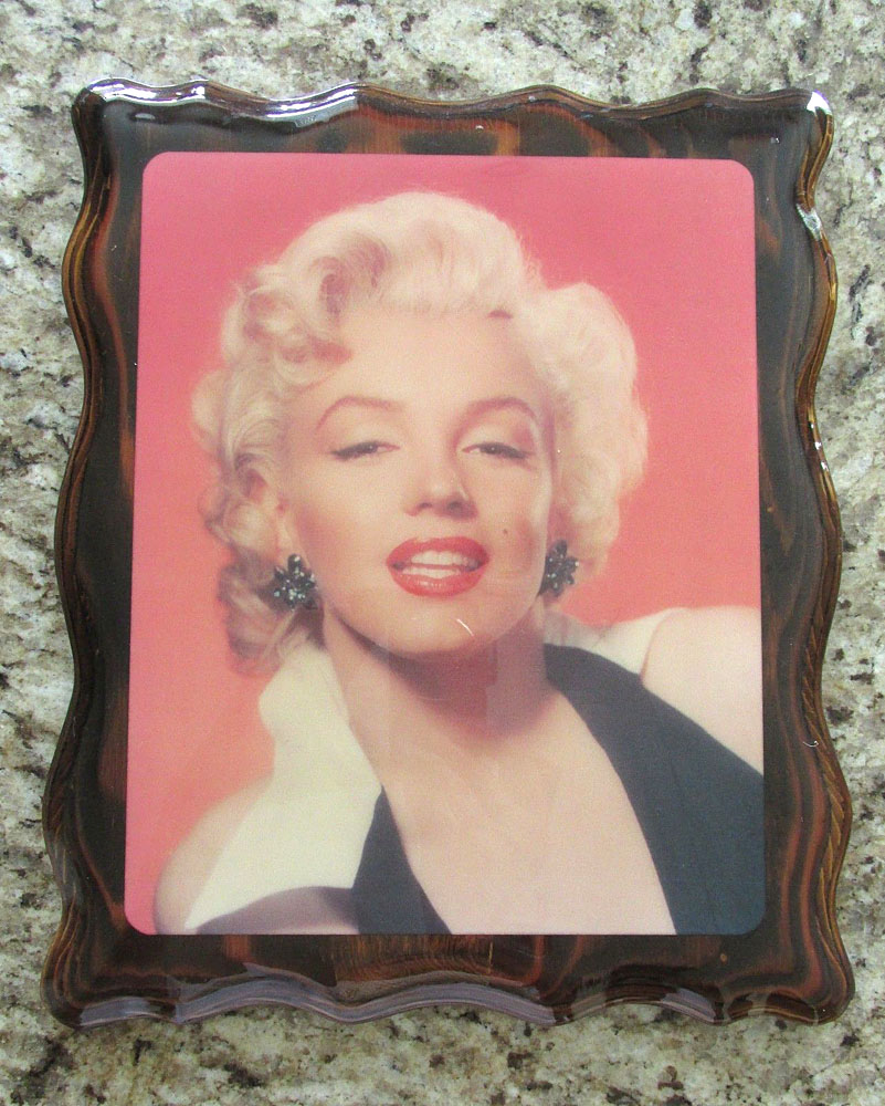 marilyn monroe decoupaged wooden wall art