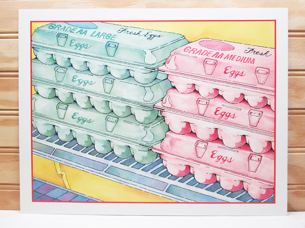 Vintage School Poster National Dairy Council Print Eggs