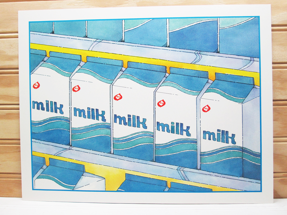 Vintage National Dairy Council School Poster Milk Cartons