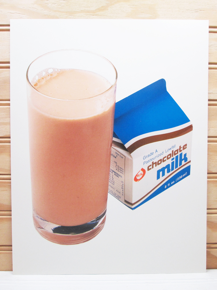 National Dairy Council Vintage Chocolate Milk Poster