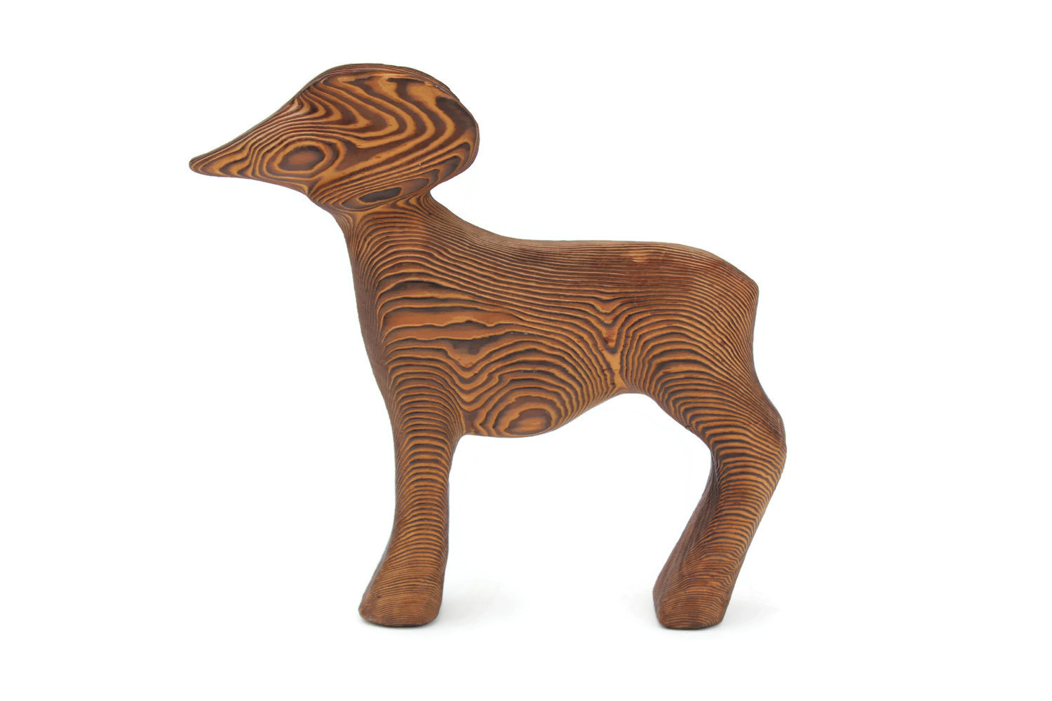 bighorn sheep wooden figurine