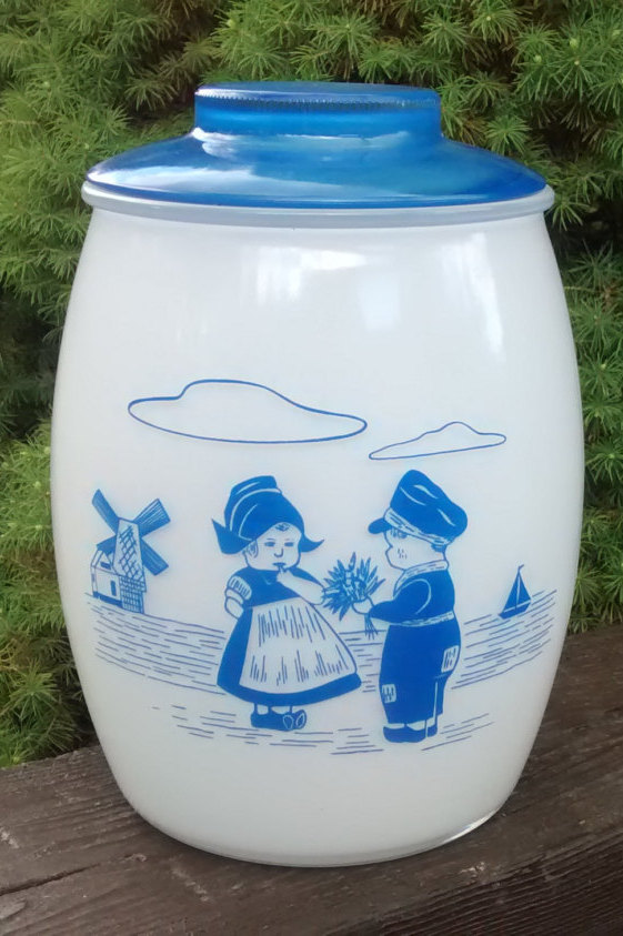 bartlett-collins-blue-dutch-boy-girl-cookie-jar