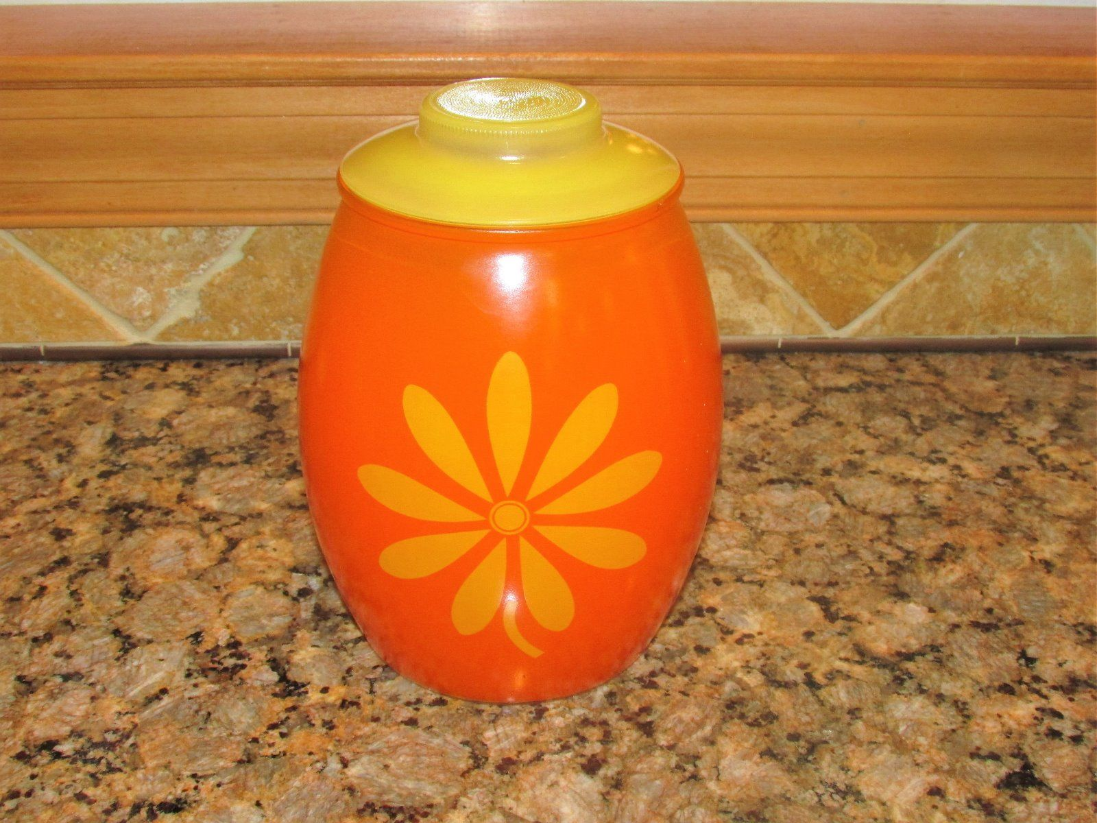 bartlett-collins-orange-flower-cookie-jar