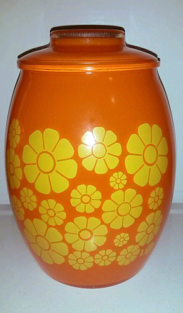 bartlett-collins-retro-orange-yellow-flowers-cookie-jar