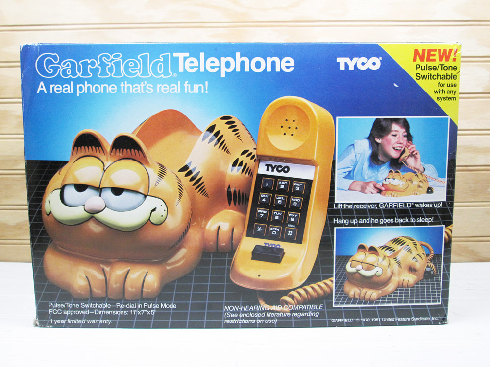 Vintage Tyco Garfield Push Button Telephone