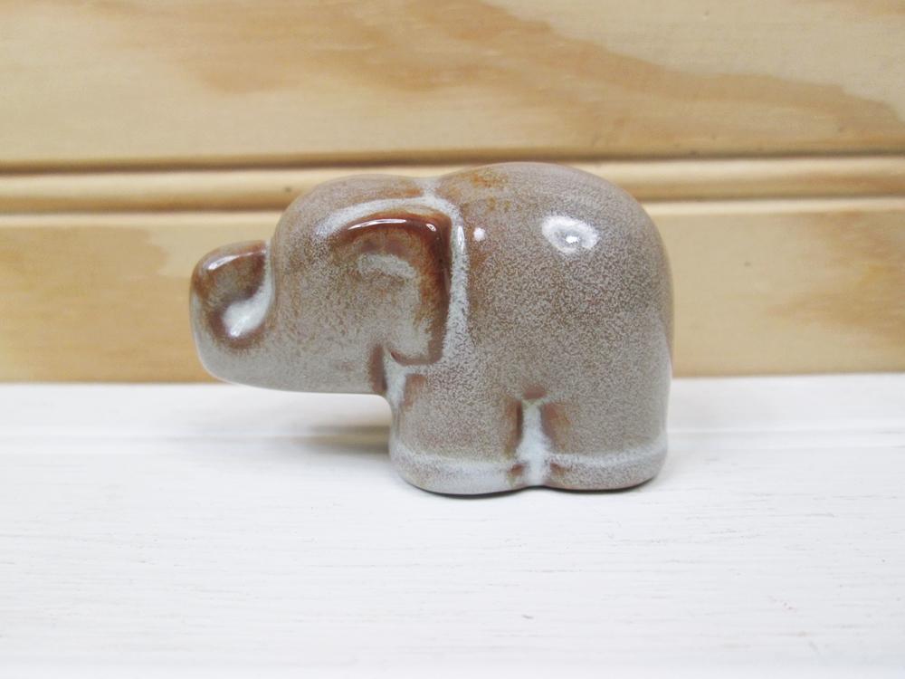 Vintage Nicodemus Pottery Miniature Elephant Figurine