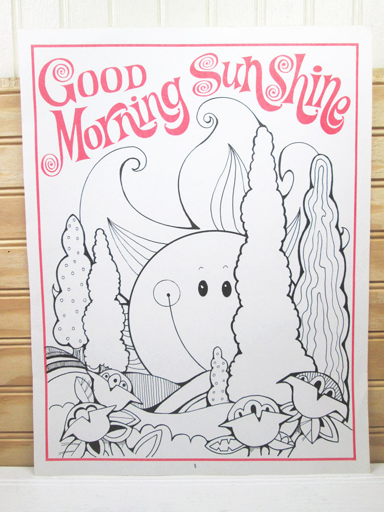 Vintage School Motivational Poster To Color